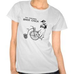 The original biker chick! t shirt