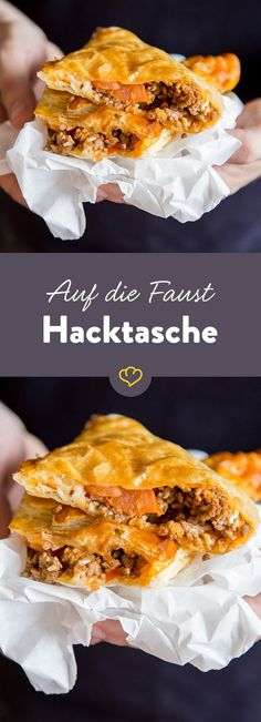 On the fist - rough hack bag-Auf die Faust – Derbe Hacktasche What's on the fist today? A rough men's hack bag. Filled with the most delicious delicacies! Pull it in! Food To Go, Good Food, Food And Drink, Yummy Food, Tasty, Party Finger Foods, Snacks Für Party, Food Inspiration, Snack Recipes