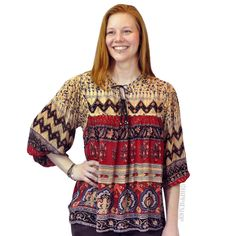 Hippie Flowy Blouse on Sale for $24.95 at HippieShop.com