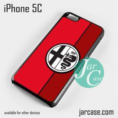 Red Alfa Romeo Logo Phone case for iPhone 5C and other iPhone devices