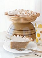 Butterscotch Pie  This delicious, creamy butterscotch pie can be dressed up with a sprinkle of toasted nuts or grated chocolate.