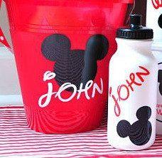 Personalized Disney Bucket & Water Bottle Combo by jgrimes1, $14.75