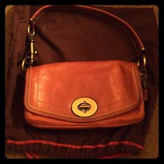 Coach Cognac Brown Legacy Shoulder Bag 🎀Final Price🎀 Excellent condition, like new. Maybe worn once, no signs of wear. Best color from 2nd photo but cognac is the color. Comes with dust bag Coach Bags Shoulder Bags