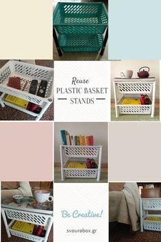 Reuse Plastic Basket Stands