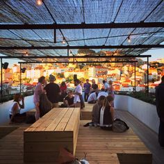 TOPO, rooftop bar and restaurant overlooking Praça Martim Moniz in Lisbon
