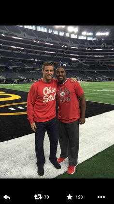 James Lauranitis and Troy Smith at the national championship game 2014 Love them.