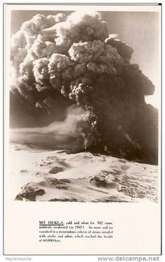 Hekla eruption 1951