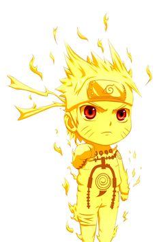 Chibi Naruto in Kyuubi Chakra Mode. I love Naruto forever!