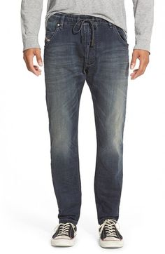 DIESEL® 'Krooley - Jogg' Slouchy Slim Jeans (666V)