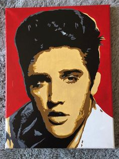 Elvis Presley - Hand Painted Pop Art Canvas by PopEmporium on Etsy