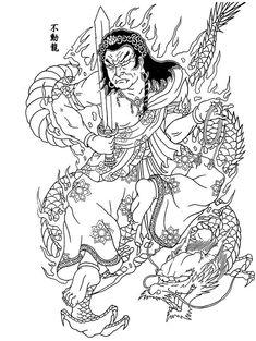 Horicho Japanese Tattoo Art, Japanese Art, Asian Tattoos, Japan Tattoo, Samurai Tattoo, Irezumi, Line Drawing, Asian Art, Color Patterns