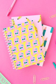 We have three printable notebook covers for all you girl bosses out there to makeover an old notebook with! Time to get organized, ladies! Diy Notebook Cover, Printable Planner, Free Printables, Printable Tabs, Planners, Cool School Supplies, Office Supplies, Bookbinding Tutorial, Do It Yourself Inspiration