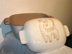 Large Ernest Sohn Glidden Art Pottery 163 Tiger Casserole  Lid Mid Century | eBay