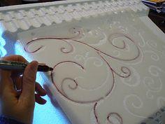 Stencil to use on styrofoam