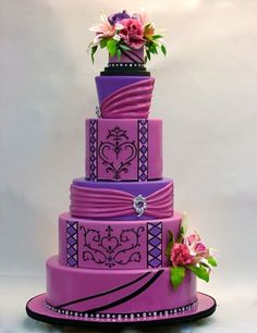 Wedding Cakes - Purple by Rae81
