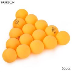 New HUIESON 60pcs 3-star Practice Ping Pong Ball Professional Table Tennis Balls for Advanced Training