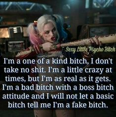 Don't take shit Boss Bitch Quotes, Badass Quotes, Mood Quotes, Girl Quotes, Babe Quotes, Joker Quotes, Funny Quotes, Funny Memes, Harly Quinn Quotes