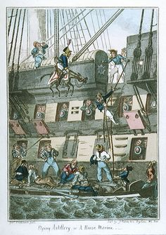 Flying Artillery or A Horse Marine (caricature) - National Maritime Museum