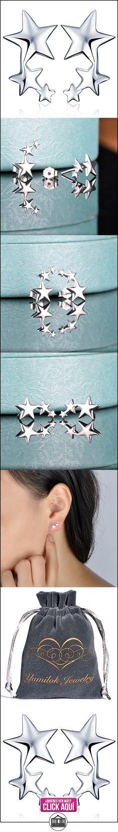 Yumi Lok 925plata de ley circonitas estrellas abrazadera Pendientes Pendientes hipoalergénico Pendientes Joyas Ear Puños para mujer mujeres niña  ✿ Joyas para mujer - Las mejores ofertas ✿ ▬► Ver oferta: https://comprar.io/goto/B01LY2DHC6