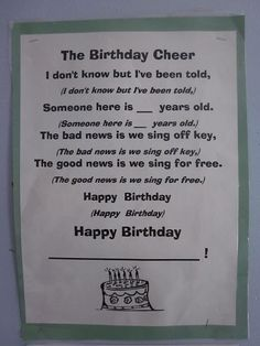 LOVE this happy birthday song!