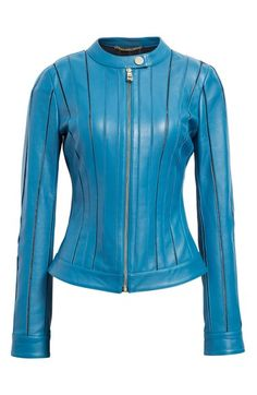 Free shipping and returns on Versace Collection Leather Jacket at Nordstrom.com. Pre-order this style from the Pre-Fall 2016 collection! Limited quantities. Ships as soon as available. You'll be charged only when your item ships.The House of Versace offers a trailblazing take on classic biker styles with this fitted leather jacket fashioned with expertly cut and placed panels that reveal hints of contrasting color through the openwork construction.