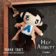 Supernatural Inspired crochet Amigurumi doll--Crochet Castiel https://www.facebook.com/OhanaCraft/
