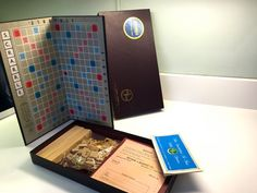 Vintage Scrabble Game 1952 Complete Crossword by vintagetoolbox