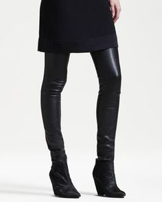 Stretch-Leather Motorcycle Leggings by THE ROW at Neiman Marcus.