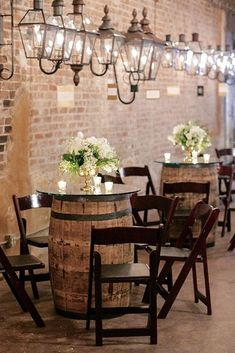 36 Wine Barrels Creative Wedding Ideas ❤️ Wine barrels are becoming more popular at weddings! Pay attention to creative wedding ideas to use wine barrels in our gallery. Wine Barrel Wedding, Wine Barrel Table, Wine Barrels, Wine Table, Wine Cellar, Deco Restaurant, Restaurant Design, Restaurant Interiors, Table Baril