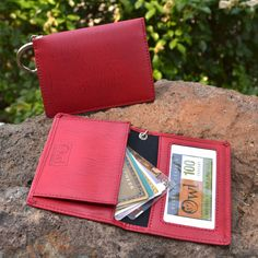 Gusseted ID - Red – Alicia Klein - Taxi Wallet - OWLrecycled