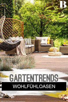 Gartentrends 2021: Schöner Garten für die neue Saison. Der Traum vieler: Einen schönen, sonnigen Tag im eigenen Garten verbringen. Mit den Gartentrends 2021 wirst du deinen Garten in einen Traumgarten verwandeln und dich garantiert noch wohler fühlen. #garten #draußen #wohlfühlen #natur Trends, Hacks, Creative Design, Balcony, Nature, Homes, Nice Asses, Beauty Trends, Tips