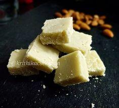 Badam Burfi #Badambarfi #Almonds #dessert #recipe #Badaamburfi India Food, Feta, Food Photography, Cheese, Fruit, Almonds, Cooking, Sweet, Desserts