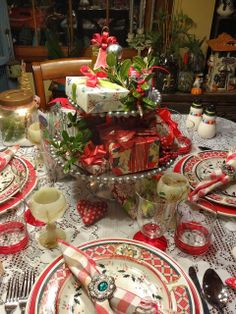 Christine's Home and Travel Adventures: Christmas Centerpiece Copycat