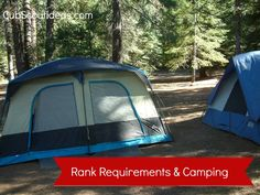 List of #CubScout and #Webelos rank requirements that can be completed on a camping trip.  Will this be helpful to your pack?