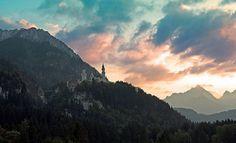 Dusk at Neuschwanstein by Nataraj Metz, via Flickr