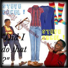 """Steve Urkel ! DIY Halloween Costumes"" by briiiheartme on Polyvore"