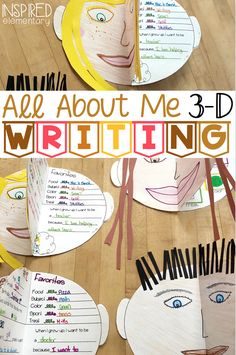 This All About Me writing activity makes a cute bulletin board display. Elementary students can use this as a back to school activity, as. Get To Know You Activities, All About Me Activities, All About Me Crafts, First Day Of School Activities, Back To School Writing Ideas, School Ideas, Teaching Writing, Writing Activities, Teaching Resources