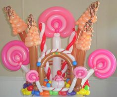 Candy Land theme decorations in San Antonio, balloon art, balloon centerpieces, . Candy Theme Birthday Party, Candy Land Theme, Candy Party, Birthday Parties, Balloon Pinata, Balloon Arch, Balloon Centerpieces, Balloon Decorations, Masquerade Centerpieces