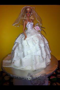 Bride Barbie Doll Cake..by Elisa Garcia