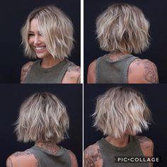 Medium Hair Styles, Curly Hair Styles, Chin Length Hair, Great Hair, Hair Today, Gorgeous Hair, Hair Looks, Short Hair Cuts, Hair Lengths