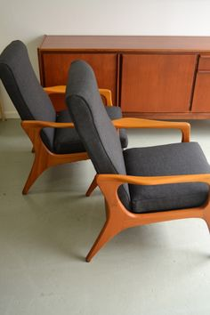 Fred Lowen designed, Fler SC58 armchairs, refurbished by www.facebook/tangerineandteal