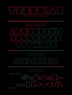 94 Best Free Fonts for Summer 2015 - Tresdias is a free sharp font perfect for futuristic posters and stationery design, t-shirts, and related printed design.