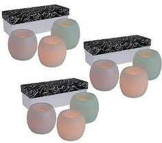 Set of 9 Candle Impressions Mini Flameless Candles w/Timer &Keepsake Boxes (in Ice Pastels)