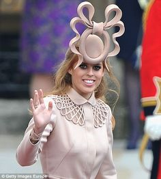 Princess Beatrice attracted endless attention for her unusual fascinator at the royal wedding last year - not all of it good - and has since opted for much more subtle headgear. What was she thinking??