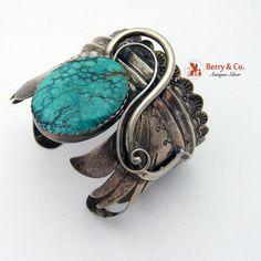 Albert Jake Kingman Turquoise Sterling Cuff Bracelet