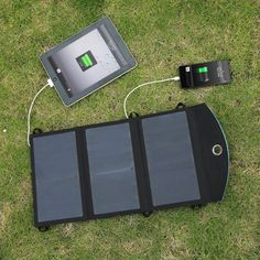 18W Folding Portable High Efficiency Solar Charger Pack with 2 USB Charging ports