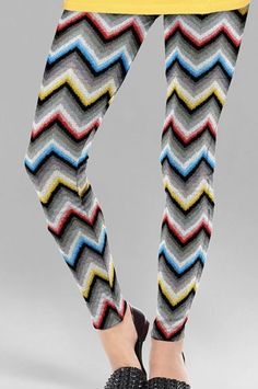 Multicolor Cotton Printed Leggings