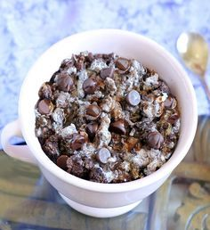 Basic Chocolate Oatmeal- there are so many variations you can make with this recipe. It's crazy awesome!