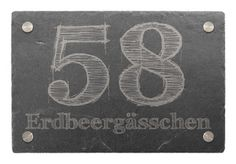 Hausnummer aus Schiefer Slate House Numbers, House Number Plates, Street Names, Laser Engraving, How To Apply, Notes, Etsy, Design, Pillows