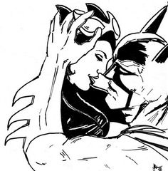 Batman and Catwoman by sugakusha